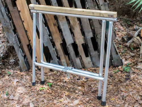 collapsible metal sawhorses